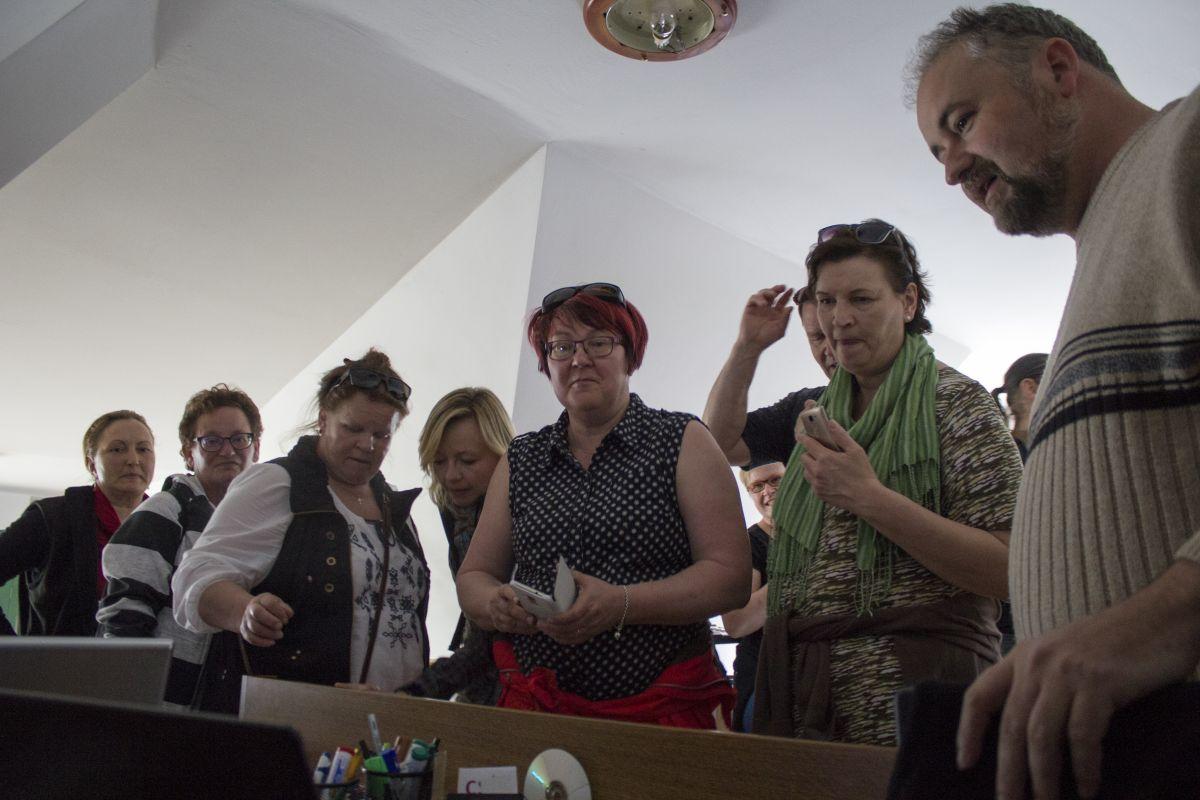 Finnországi vendégek a Csík LEADER-nél